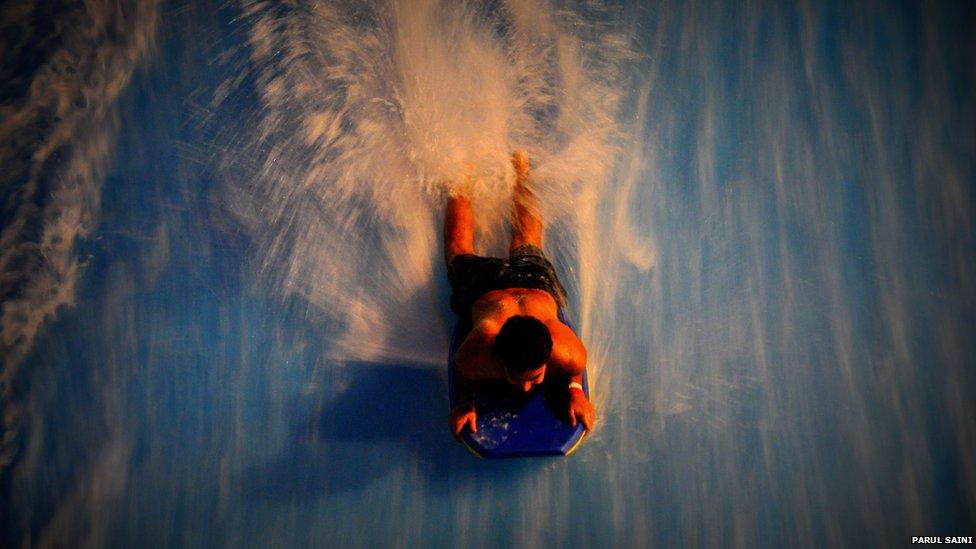 Riding the wave at Wild Wadi in Dubai