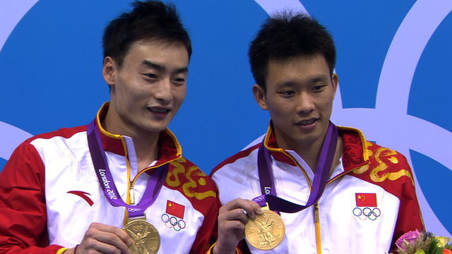 Luo Yutong and diving partner Qin Kai