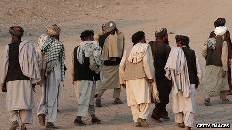 Elders in Kandahar after a meeting