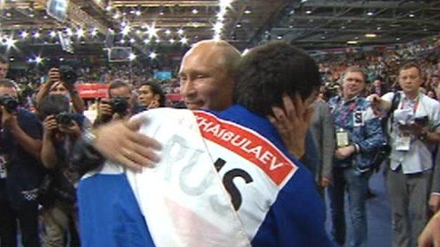 Vladimir Putin and Tagir Khaibulaev