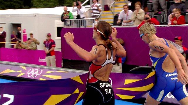 Nicola Spirig and Lisa Norden's dead heat
