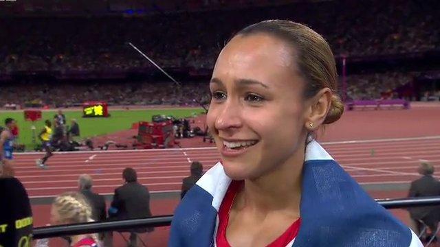 Great Britain's heptathlon gold medallist Jessica Ennis