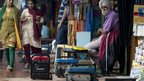 Portable power generators at shops along Janpath Market in Delhi on July 31, 2012
