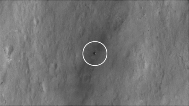 Rover pictured from space