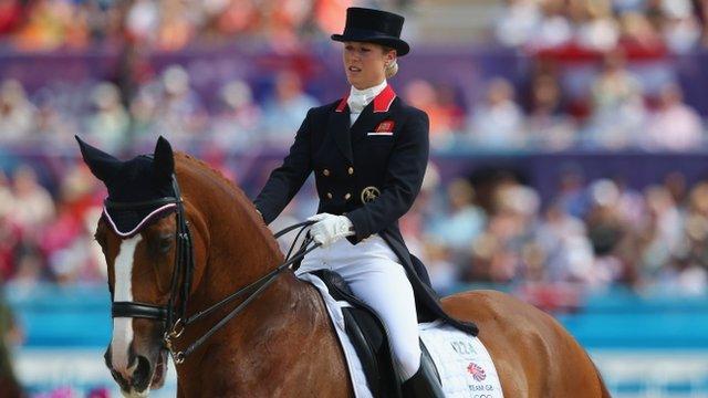 Laura Bechtolsheimer of Great Britain riding Mistral Hojris