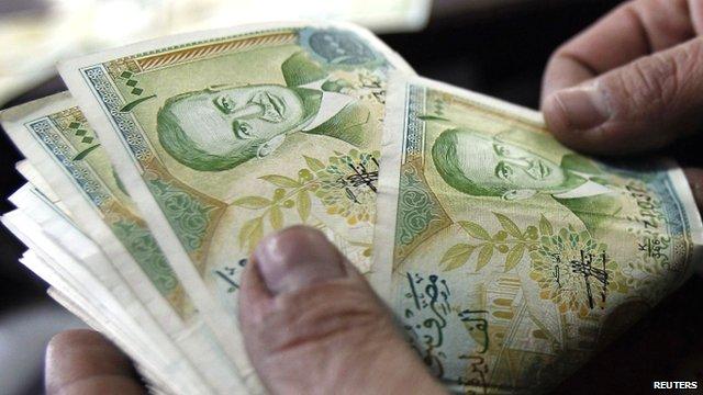 Syrian 1,000 pound banknotes
