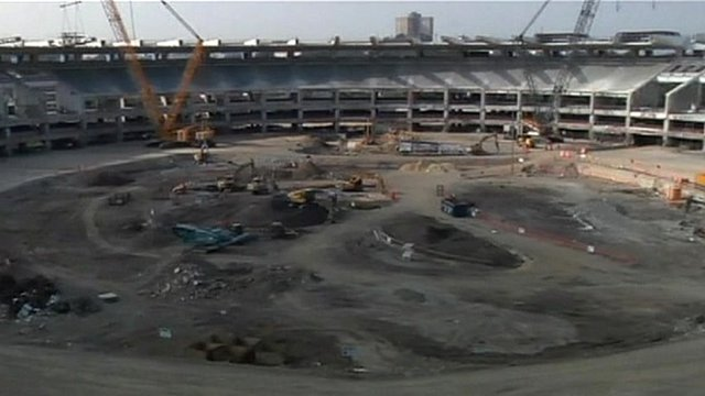 The Maracana stadium during renovation