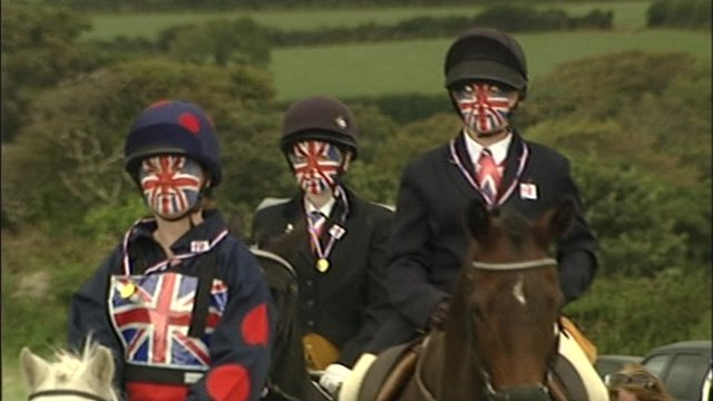 Riders at Trescrowan Livery Show