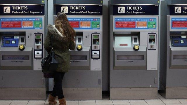 Rail passengers at Clapham station
