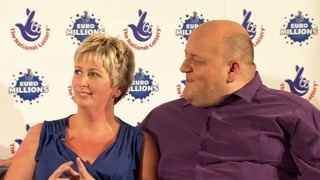 Gillian and Adrian Bayford lottery winners