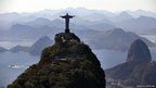 The Statue of Christ the redeemer and Sugar Loaf Mountain, Rio de Janeiro, Brazil