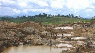 A gold mine in eastern Democratic Republic of Congo