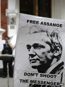 A pro-Assange poster