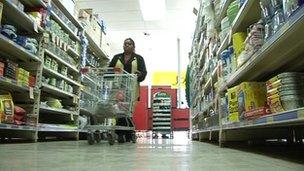 Barbara Shaw shopping in a supermarket