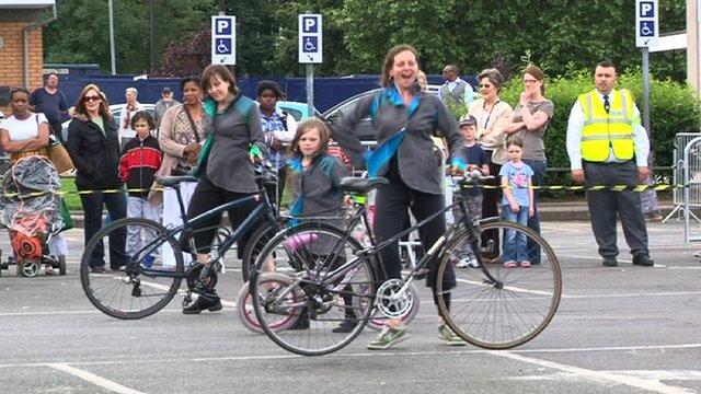 Bicycle Ballet performance