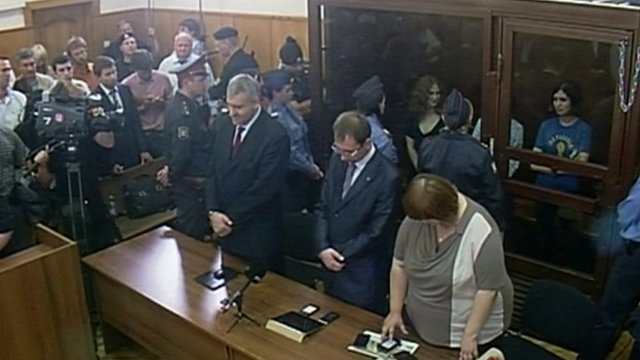 Pussy Riot being sentenced