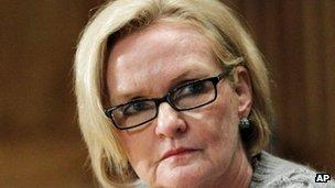 Senator Claire McCaskill file picture