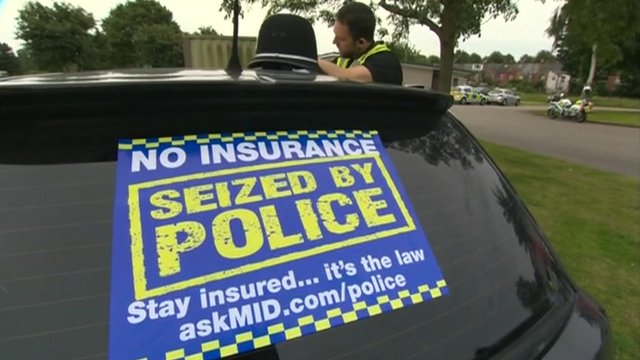 West Midlands Police car insurance sticker