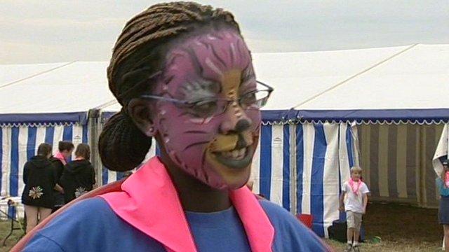 Kenyan girl at Essex jamboree