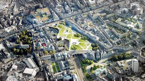Aerial of City Garden Project plan