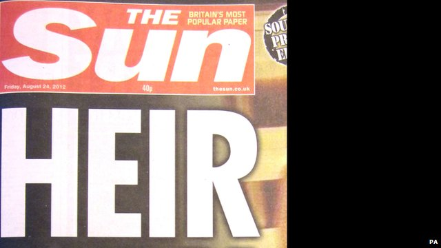Sun front page with photo blacked out