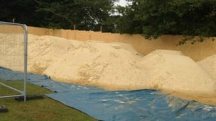Sand used for beach volleyball courts in St Albans
