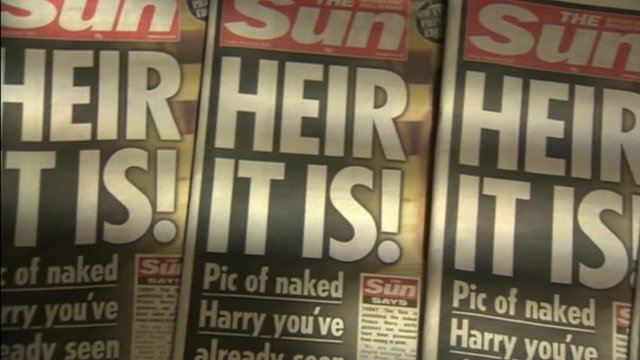 The front page of the Sun newspaper