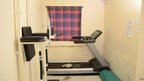 Undated handout picture distributed by Ila Prison showing Breivik's exercise room