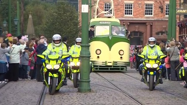 Paralympic flame event at Beamish Museum