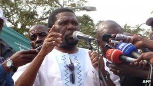 Leader of Angola's main opposition party UNITA, Isaias Samakuva