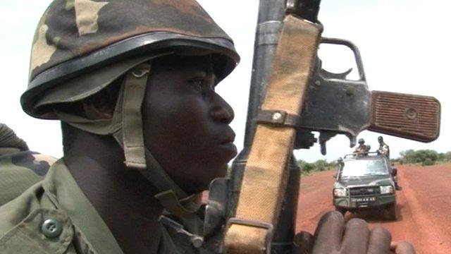 A Mali army soldier