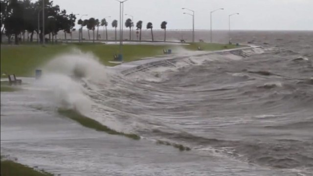 Storm on the shore of Lake Pontchartrain