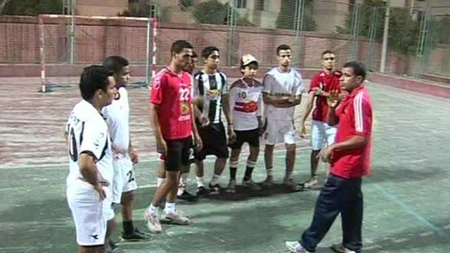 Members of the Egyptian deaf football team