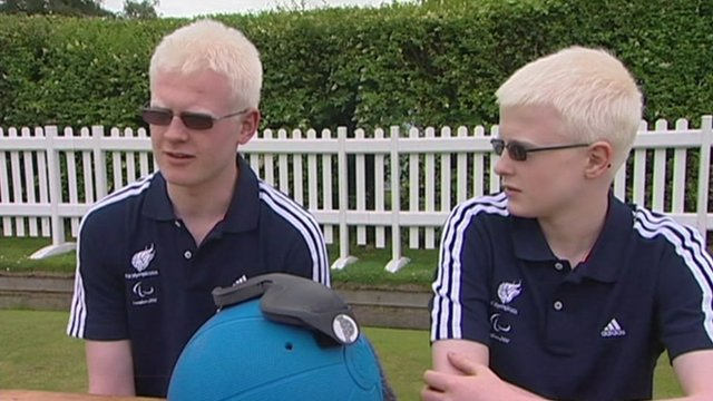 Richard and Peter Chambers, paralympic Goalball athletes