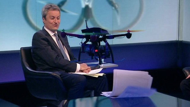 Drone in Newsnight studio