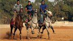 Men riding horses in Benghazi, Libya - Friday 24 August 2012