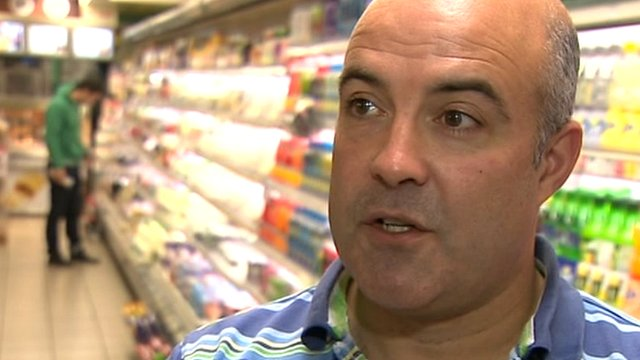 Shop owner Donagh McGovern