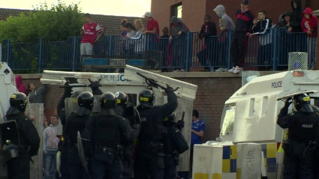 Police in Northern Ireland hit with yobs