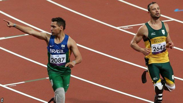 Alan Oliveira and Oscar Pistorius
