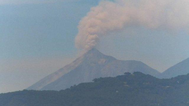 Fuego volcano in Guatemala