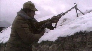 Nagorno-Karabakh soldier in 1992