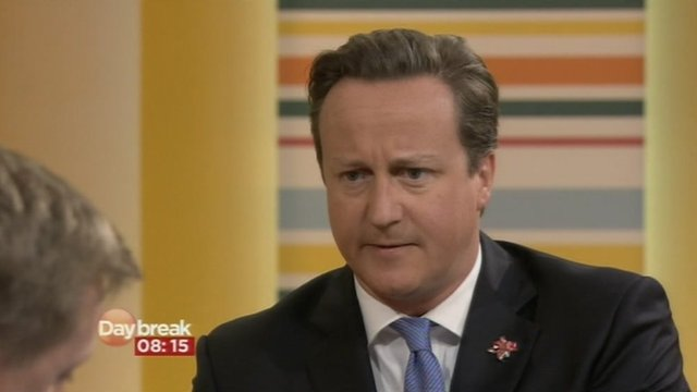 David Cameron on ITV Daybreak