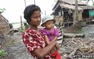 Cyclone Nargis survivors, Dedaye, June 2008