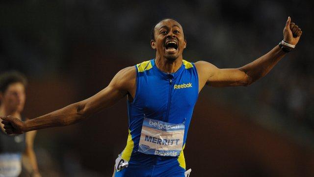 Olympic champion Aries Merritt