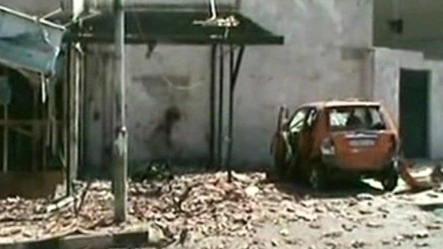 Scene of blast in the Rukn al-Din area