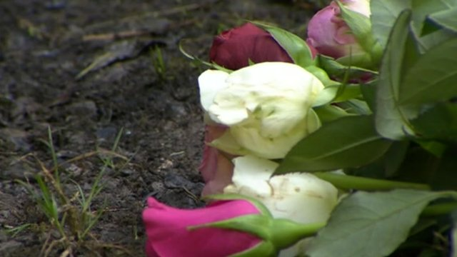 Flowers at scene of shooting