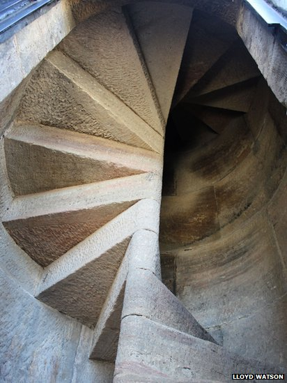Stairs Inside One Of The Pillars At Penshaw Monument