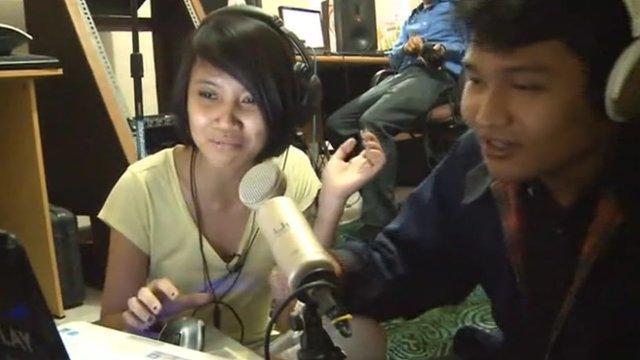 Indonesian pirate radio station