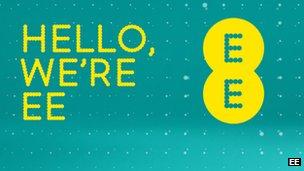 EE logo on website