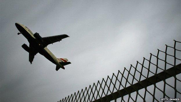 Aeroplane taking off